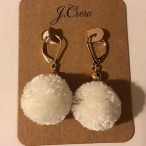 J crew pom earrings